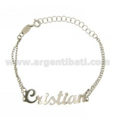 ROLO Armband &39CM 18 AS CRISTIAN Silber Rhodium TIT 925 ‰