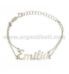ROLO Armband &39CM 18 AS EMILIA Silber Rhodium TIT 925 ‰