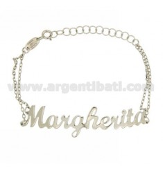 ROLO BRACELET 'CM 18 AS MARGHERITA SILVER RHODIUM TIT 925 ‰