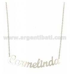 ROLO NECKLACE &39CM 45 AS Carmelinda SILVER RHODIUM TIT 925 ‰