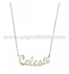 ROLO NECKLACE &amp 39CM 45 AS CELESTIAL SILVER RHODIUM TIT 925 ‰