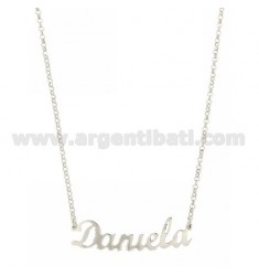 ROLO NECKLACE &39CM 45 DANIELA WITH NAME SILVER RHODIUM TIT 925 ‰