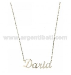 ROLO NECKLACE &39CM 45 AS DARIA SILVER RHODIUM TIT 925 ‰