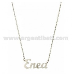 ROLO NECKLACE &39CM 45 ENEA AS SILVER RHODIUM TIT 925 ‰