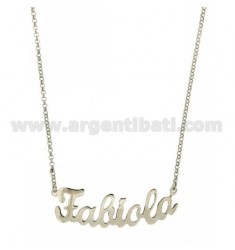 ROLO NECKLACE &39CM 45 AS FABIOLA SILVER RHODIUM TIT 925 ‰