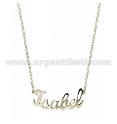 ROLO NECKLACE &amp 39CM 45 AS ISABEL IN SILVER RHODIUM TIT 925 ‰