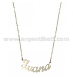 ROLO NECKLACE &amp 39CM 45 AS IVANA SILVER RHODIUM TIT 925 ‰