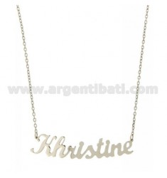 ROLO NECKLACE &amp 39CM 45 AS KHRISTINE SILVER RHODIUM TIT 925 ‰