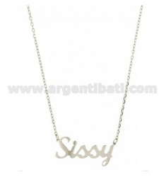 ROLO NECKLACE &39CM 45 AS SISSY IN SILVER RHODIUM TIT 925 ‰