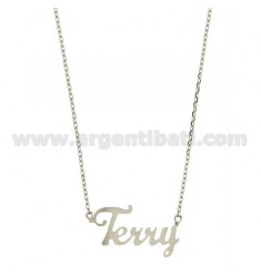 ROLO NECKLACE &39CM 45 AS TERRY SILVER RHODIUM TIT 925 ‰