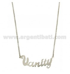 ROLO NECKLACE &3945 CM AS NEW VANITY SILVER RHODIUM TIT 925 ‰