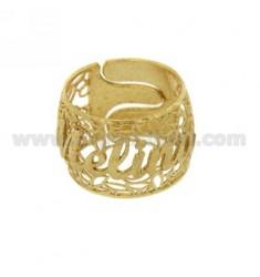 BAND RING IN Elektro MELINA Silber vergoldet TIT 925 ‰ Größe verstellbar
