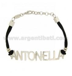 Armband Silber NAMEN ANTONELLA TIT 925 ‰ SILK 18 cm GEWACHSTE