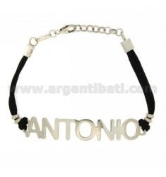 Armband.Name Antonio Silver TIT 925 ‰ SILK 18 cm GEWACHSTE