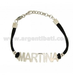 BRACELET NAME MARTINA SILVER TIT 925 ‰ SILK 18 CM WAXED