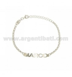 ROLO BRACELET 'NAME BABY PRINT MARCO IN SILVER PLATED RHODIUM TIT 925%