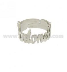 RING Band justierbar ANTONELLA Silber Rhodium TIT 925