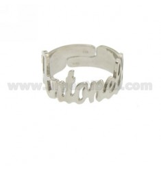 RING BELT ADJUSTABLE ANTONELLA SILVER RHODIUM TIT 925
