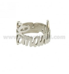 RING BELT ADJUSTABLE EMANUELA SILVER RHODIUM TIT 925