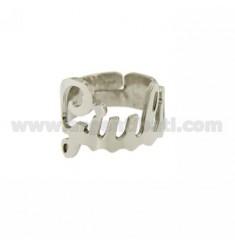 Ringpartie ADJUSTABLE JULIA Silber Rhodium TIT 925