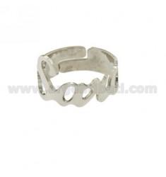 Band Ring einstellbar Silber Rhodium TIT 925