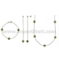 Ohrringe Halskette und Armband aus Silber TIT 925 ‰ UND KRISTALL