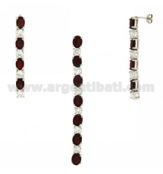 EARRINGS SILVER CHARM AND TIT 925 ‰ AND ZIRCONIA