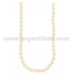 PEARL NECKLACE WITH 8 MM SUSTA SILVER RHODIUM TIT 925 ‰ CM 47.53