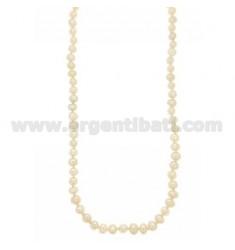 Barocken Perlen Halskette mit silbernen RHODIUM SUSTA TIT 925 ‰ 47 CM