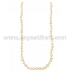 BAROQUE PEARLS NECKLACE WITH SILVER RHODIUM SUSTA TIT 925 ‰ CM 47