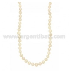 BAROQUE PEARLS NECKLACE WITH 8 MM SUSTA SILVER RHODIUM TIT 925 ‰ CM 47