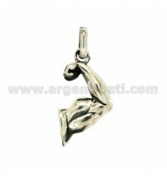 PENDANT ARM MUSCLED 28x16 MM SILVER RHODIUM TIT925 ‰