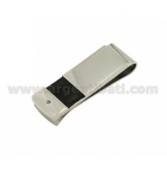 MONEY CLIPS STEEL WITH RECTANGLE IN POLISH AND ZIRCONE