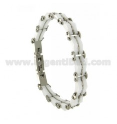 Armband aus Stahl und Keramik