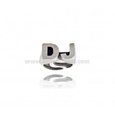 DJ RING 12x22 MM SILVER BRUNITO TIT 925 ‰ SIZE ADJUSTABLE