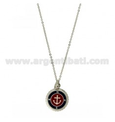 NECKLACE CABLE 50 CM WITH STEEL ANCHOR AND POLISH