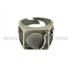 RING IN SILVER DJ CONSOLE BRUNITO TIT 925 ‰ ADJUSTABLE FIT