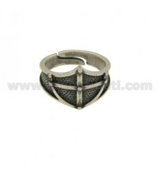 RING IN SILVER SHIELD BRUNITO TIT 925 ‰ SIZE ADJUSTABLE