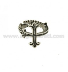 RING IN SILVER CROSS BRUNITO TIT 925 ‰ SIZE ADJUSTABLE