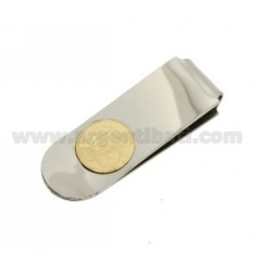 MONEY CLIPS STEEL WITH TWO TONE 1 CENT COIN