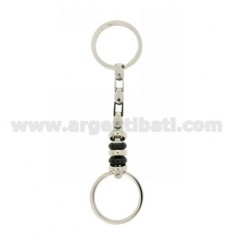 KEY RING IN STEEL WITH TWO.TONE DOUBLE BRISE &39