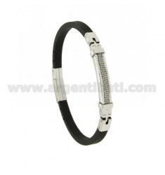 BRACELET STEEL AND RUBBER &39MM 5 CLOCK WITH CLOSURE