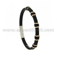 TWO.TONE BRACELET STEEL AND RUBBER &39MM 5