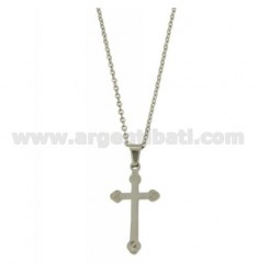 CROSS PENDANT STEEL CABLE WITH CHAIN 50 CM