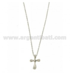 PENDANT CROSS THROUGH STEEL CABLE WITH CHAIN 50 CM