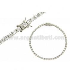 Tennis Armband 3 MM Silber Rhodium 925 ‰ und weißen Zirkonia