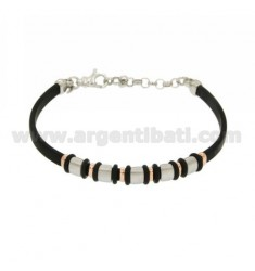 PARTITIONS PLATED ROSE GOLD BRACELET RUBBER &39And AG RODIATO TIT 925 ‰