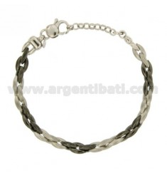 SPECIAL MESH BRACELET SILVER SATIN SILVER PLATED RHODIUM AND RUTHENIUM TIT 925 ‰ CM 19