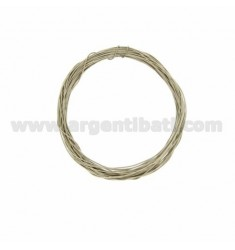COIL WIRE MODELLABILE SILVER 0,4 MM SILBER RHODIUM TIT 925 ‰