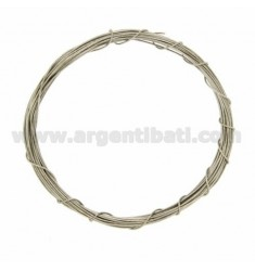 COIL WIRE MODELLABILE SILVER 0,6 MM SILBER RHODIUM TIT 925 ‰